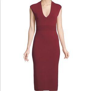 NWOT MICHAEL Michael Kors V-Neck Sleeveless Jersey Knit Dress Cranberry Size XXS